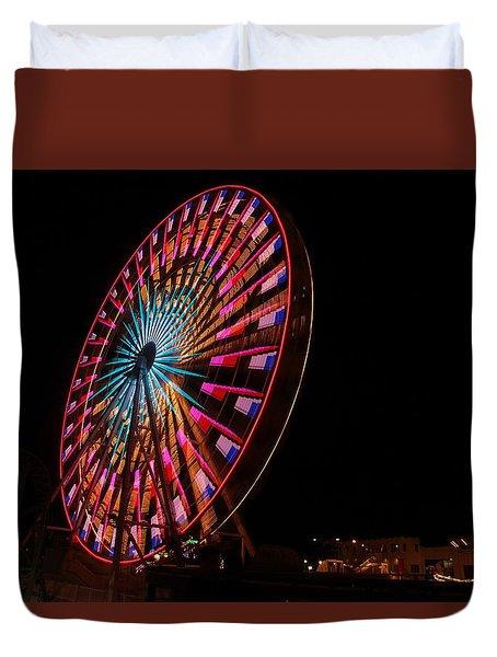Ocean City Ferris Wheel6 Duvet Cover