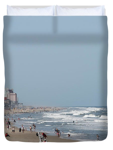 Ocean City Maryland Beach Duvet Cover