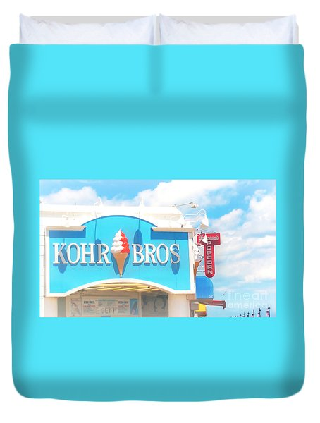 Ocean City Nj Kohr Bros Johnson Popcorn Duvet Cover