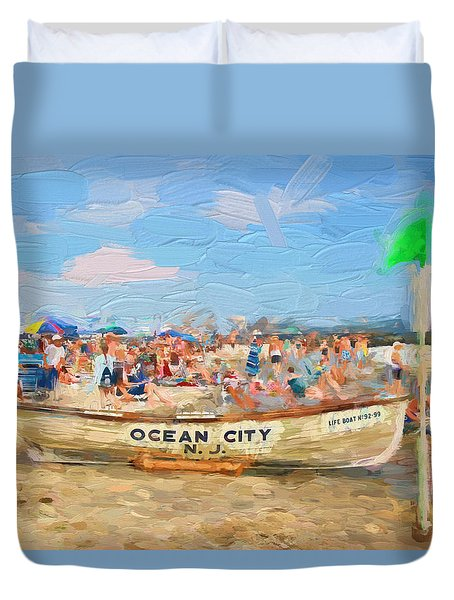 Ocean City Rescue Boat 2 Duvet Cover