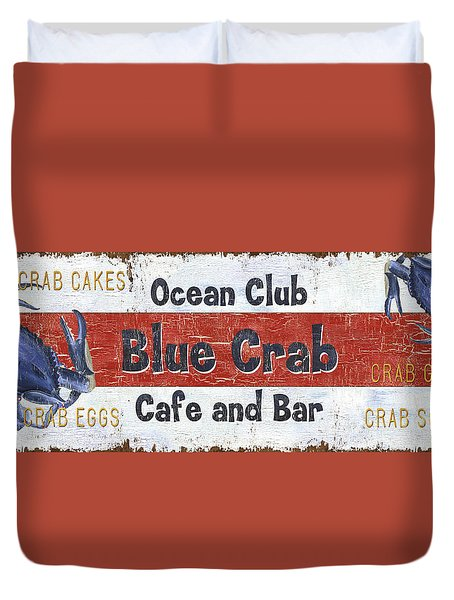 Ocean Club Cafe Duvet Cover by Debbie DeWitt