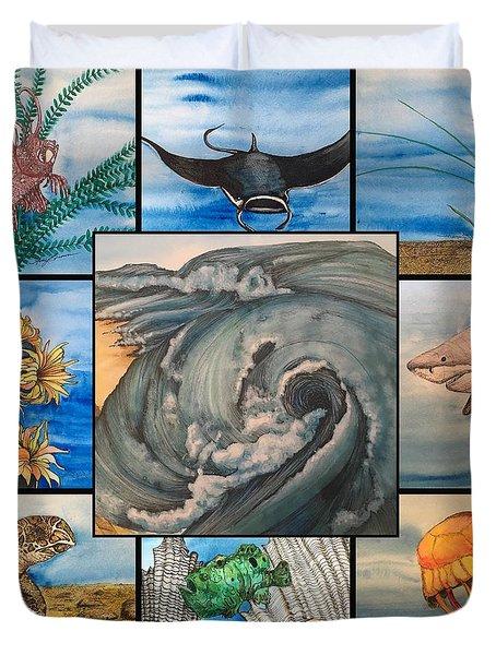 Ocean Collage #1 Duvet Cover