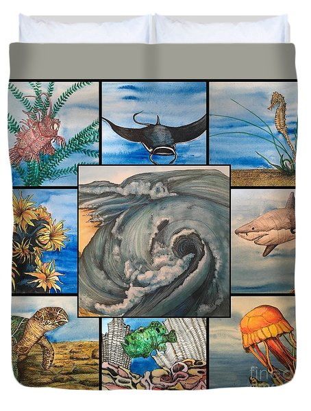Ocean Collage #1 Duvet Cover