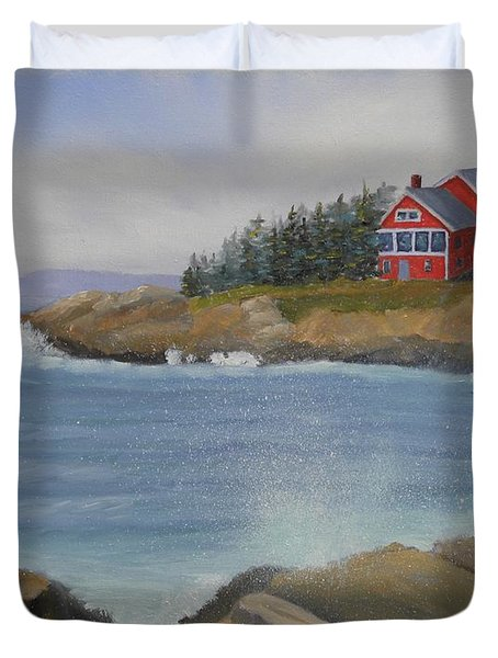 Ocean Cottage Duvet Cover