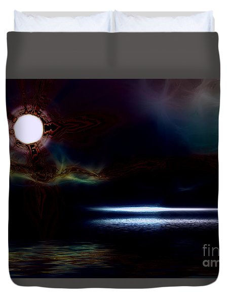 Ocean Dream Duvet Cover by Elaine Hunter