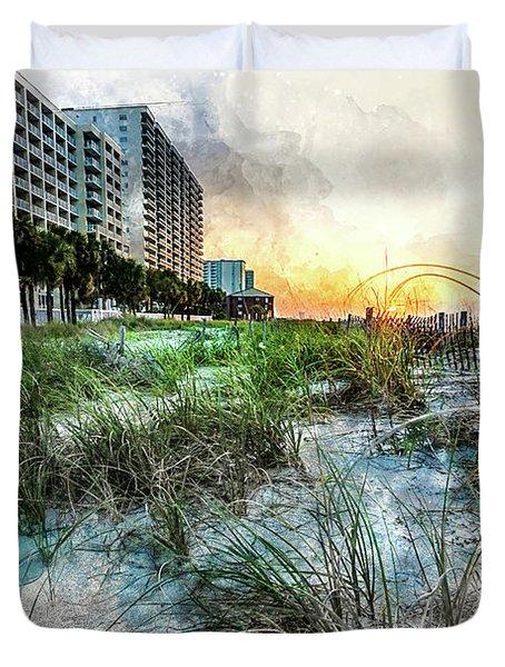 Ocean Drive Easter Sunrise Duvet Cover