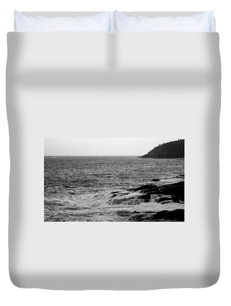 Duvet Cover featuring the photograph Ocean Drive by Greg DeBeck