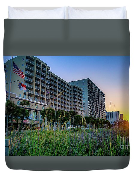 Ocean Drive Sunrise North Myrtle Beach Duvet Cover