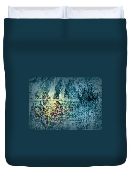 Ocean Floor Duvet Cover