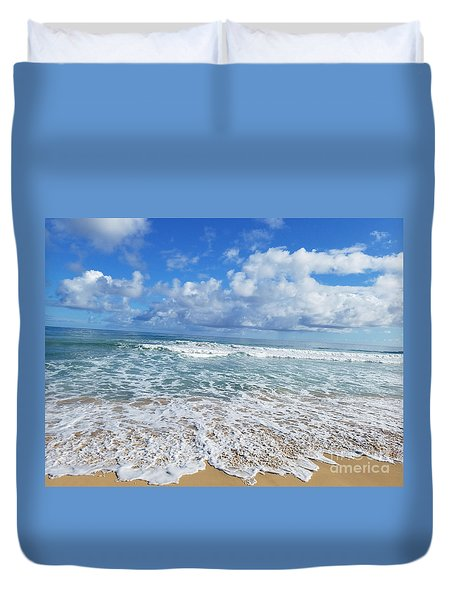 Ocean Foam Duvet Cover