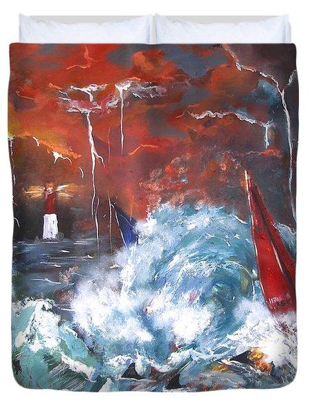 Ocean Fury Duvet Cover