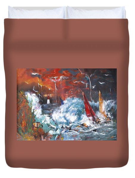 Ocean Fury Duvet Cover