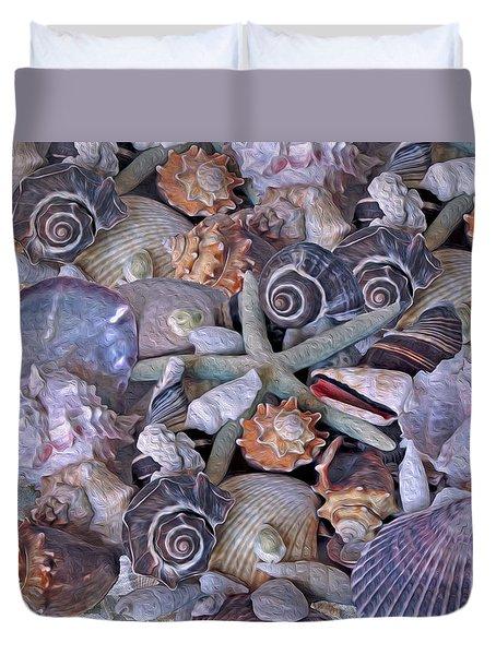 Ocean Gems 11 Duvet Cover by Lynda Lehmann