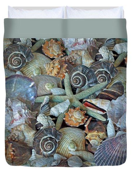 Ocean Gems 5 Duvet Cover by Lynda Lehmann