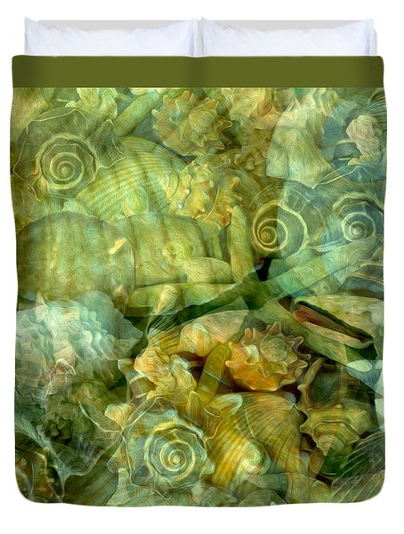 Ocean Gems Underwater Duvet Cover by Lynda Lehmann