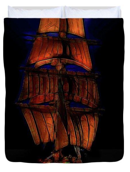 Ocean Glow Duvet Cover by Michael Cleere