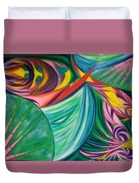 Ocean Graffiti Duvet Cover