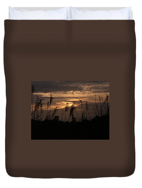 Ocean Grass By The Sea Duvet Cover