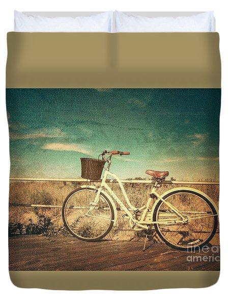 Ocean Grove Bicycle Duvet Cover