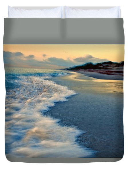 Ocean In Motion Duvet Cover by Dennis Baswell