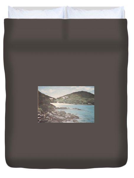 Ocean Inlet Landscape Duvet Cover