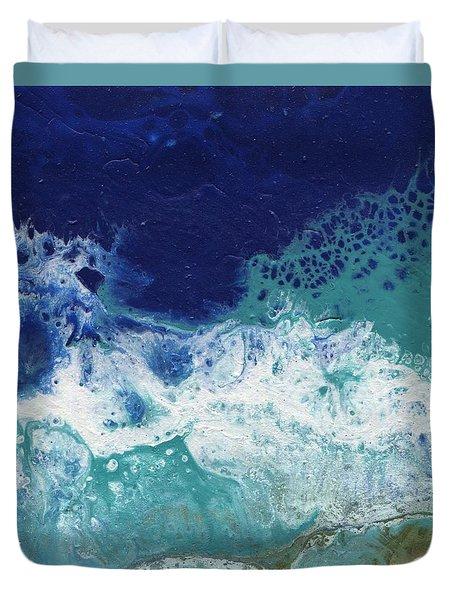 Duvet Cover featuring the painting Ocean by Jamie Frier