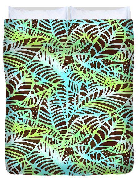 Ocean Leaves Key West Duvet Cover