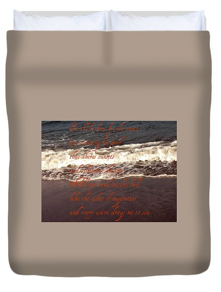 Ocean Lyrics Duvet Cover