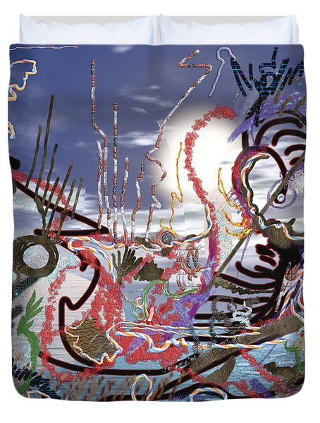 Ocean Duvet Cover by Marko Mitic