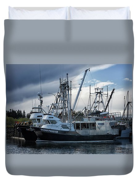 Ocean Phoenix Duvet Cover by Randy Hall