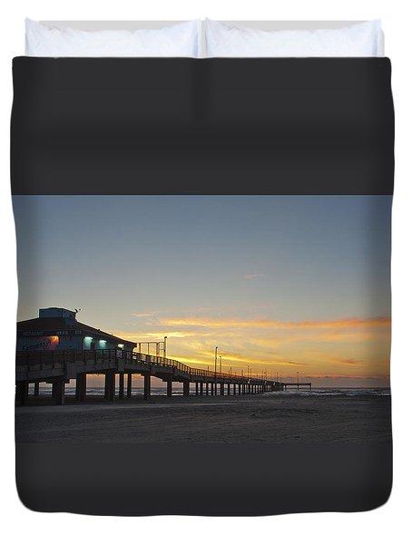 Ocean Pier Duvet Cover