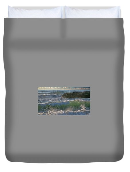 Duvet Cover featuring the photograph Crashing Waves by Elvira Butler