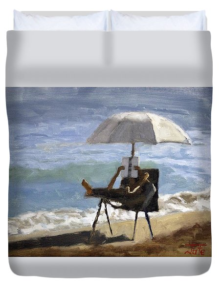 Ocean Reader Duvet Cover