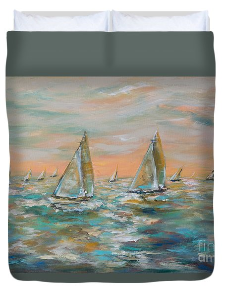 Ocean Regatta Duvet Cover