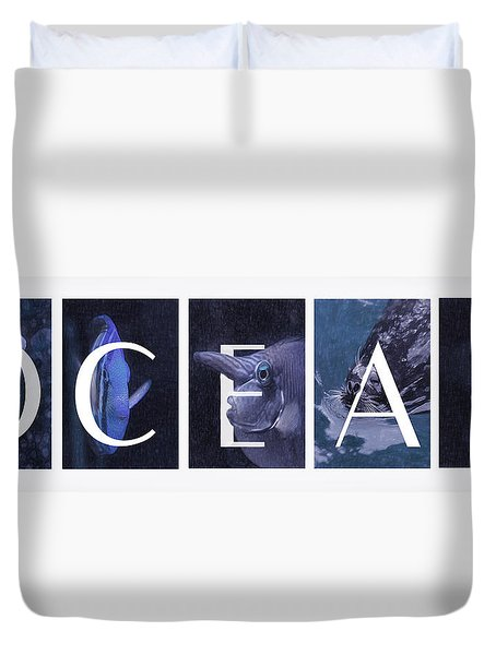 Duvet Cover featuring the photograph Ocean by Robin-Lee Vieira