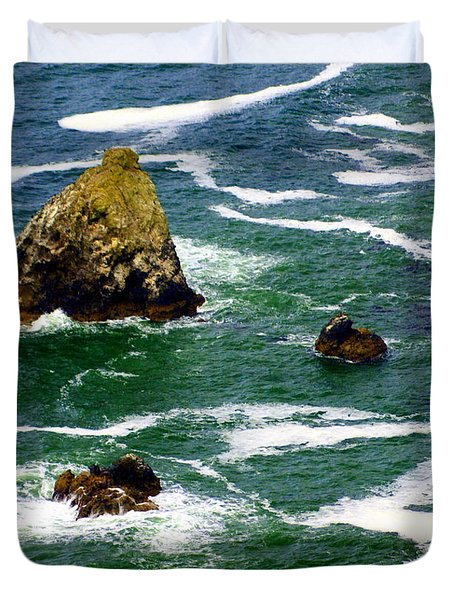 Ocean Rock Duvet Cover by Marty Koch