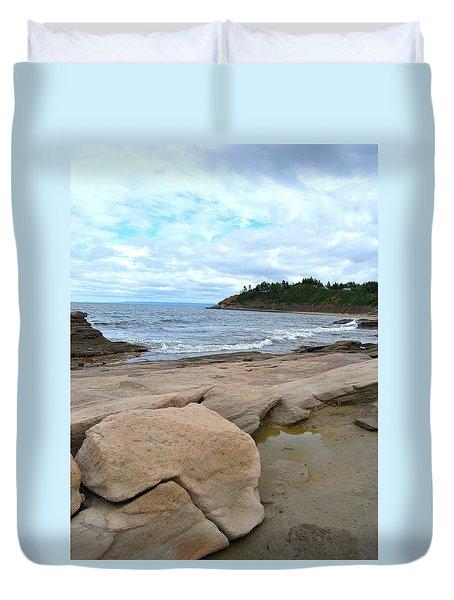 Ocean Rocks - Nova Scotia Duvet Cover