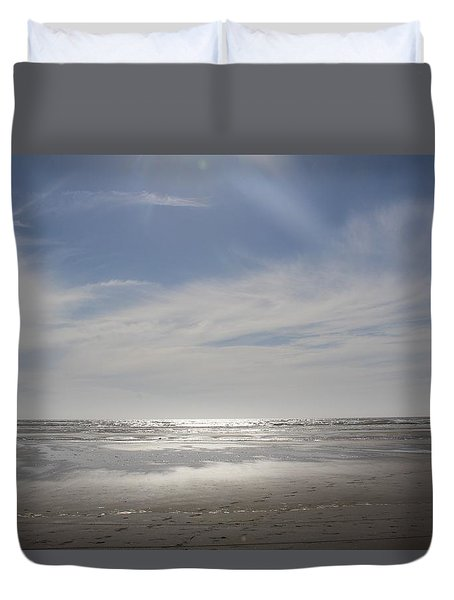 Ocean Shores Duvet Cover by Suzanne Lorenz