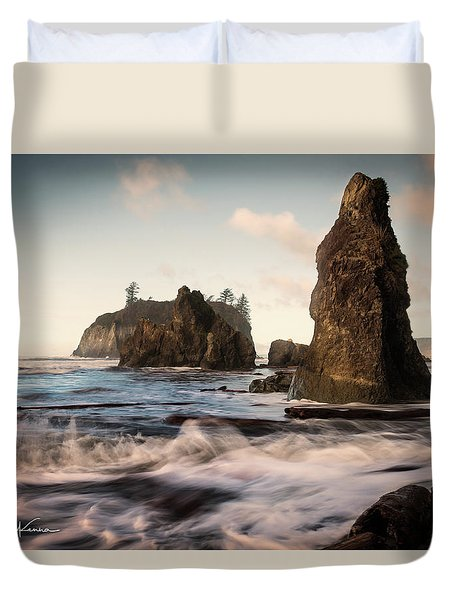 Duvet Cover featuring the photograph Ocean Spire Signature Series by Chris McKenna