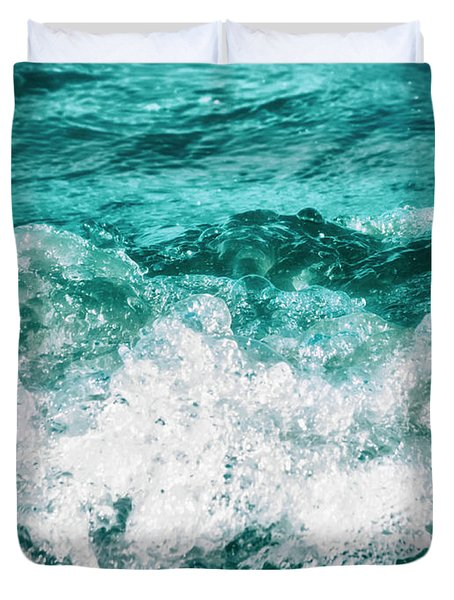 Ocean Splashes Duvet Cover by Wim Lanclus