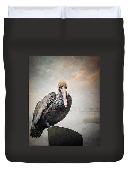 Ocean Springs Pelican Duvet Cover