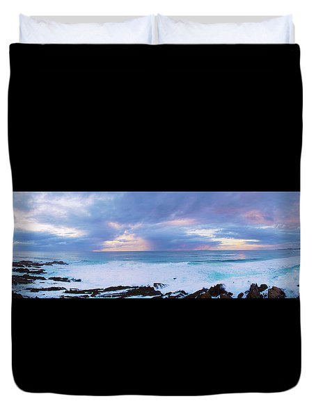 Ocean Sun Rise Duvet Cover