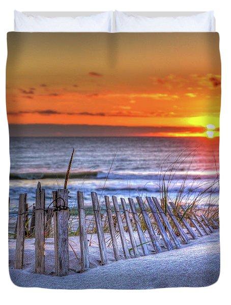 Ocean Sunrise From The Dunes Duvet Cover