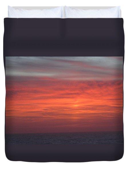 Ocean Sunrise Duvet Cover by Kathy Long
