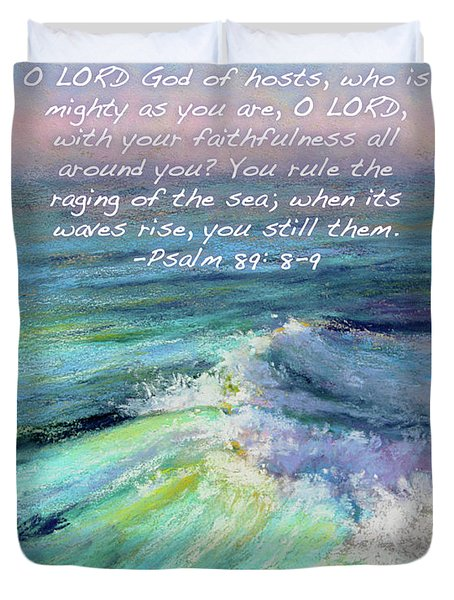 Ocean Symphony With Bible Verse Duvet Cover