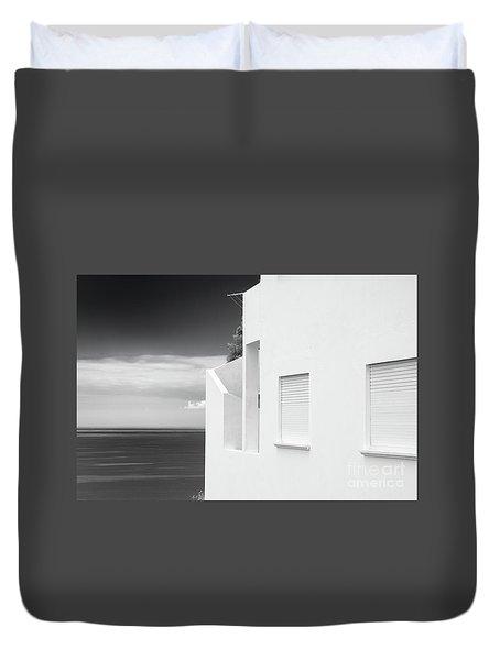 Ocean View White House Duvet Cover