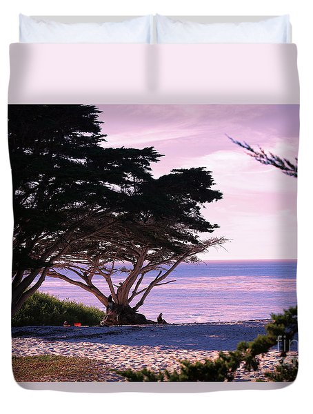 Ocean Views From Carmel Beach  Duvet Cover
