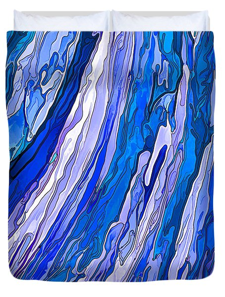 Ocean Wave Duvet Cover by ABeautifulSky Photography