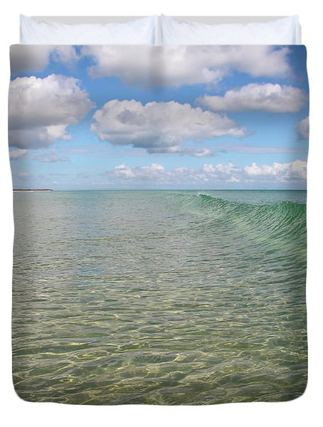 Ocean Waves And Clouds Rollin' By Duvet Cover