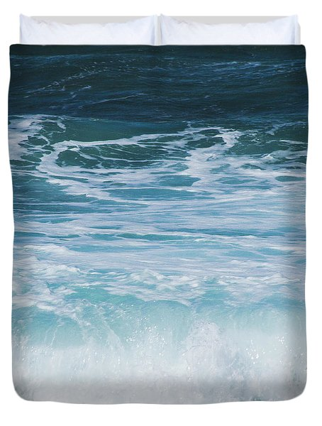 Ocean Waves From The Depths Of The Stars Duvet Cover by Sharon Mau
